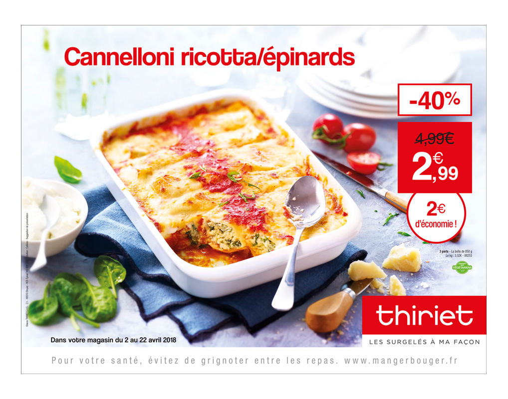 Cannelloni / Client Thiriet / Agence CAFE(!)NE